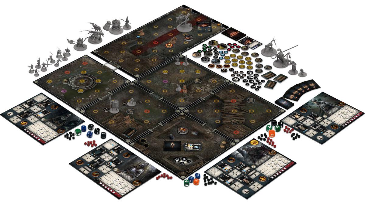 Dark Souls Brettspiel Spielmaterial Characters Expansion ohne Miniaturen